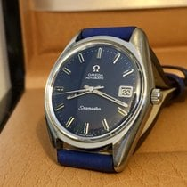 Omega Seamaster blue dial face mens vintage gents watch + Box