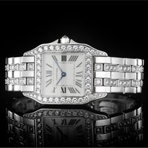 Cartier Santos Demoiselle pre-owned 26mm White White gold