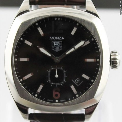 40308e60d13 TAG Heuer Monza Wr2110.fc6165 Mens Automatic Brown Leather... for Rp.  25