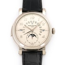 Patek Philippe Minute Repeater Perpetual Calendar White gold 40.6mm Silver