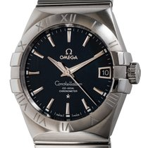 Omega Constellation Men Steel 38mm Black United States of America, Texas, Austin