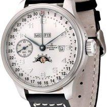 Zeno-Watch Basel OS Retro Zodiac Full Calendar Winder