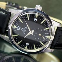 Omega Automatic Half Rotor Bumper Side Second Steel Mens Watch