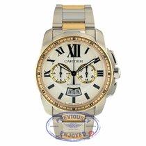 Cartier Calibre de Cartier Chronograph Золото/Cталь 42mm Cеребро Римские