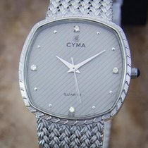 Cyma Swiss Made Unisex 1980s Quartz Luxury Stainless Steel...