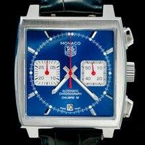 TAG Heuer Chronographe 39mm Remontage automatique 2015 occasion Monaco Calibre 12 Bleu