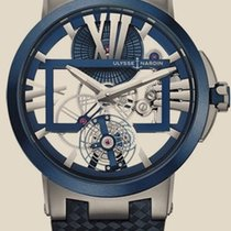Ulysse Nardin Executive Skeleton Tourbillon Титан 45mm Прозрачный Римские