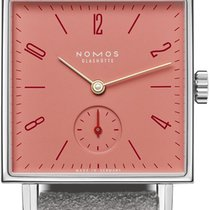 NOMOS Steel 29.5mm手动缠绕498格林纳丁不锈钢背面美国纽约州艾尔蒙特
