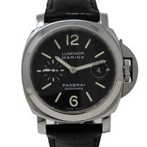 Panerai Luminor Marina Automatic Stål 44mm Svart Arabiska