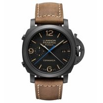 Panerai Luminor 1950 3 Days Chrono Flyback Cerâmica Preto Árabes