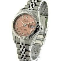 Rolex Used 79174_used_salmon_roman Ladys Steel Datejust with...
