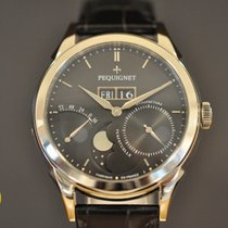 Pequignet Rue Royale NEW Day-Date Moonphase and Power Reserve