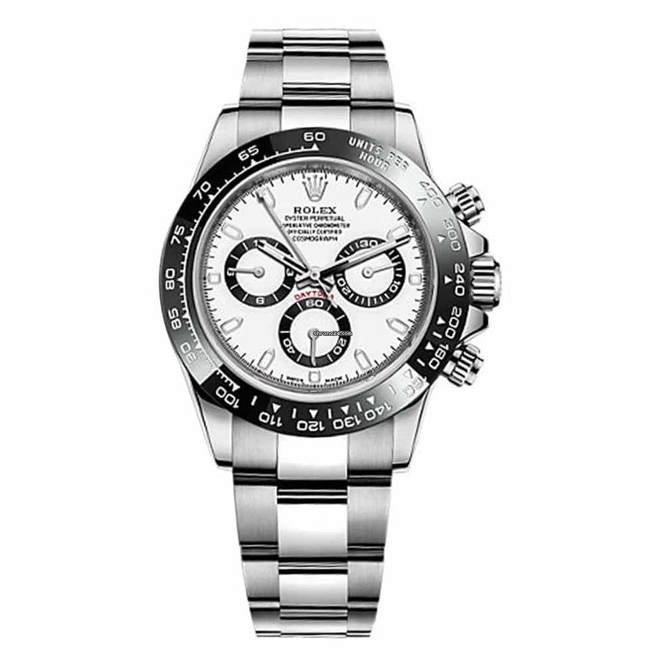 Rolex Daytona Ceramic Bezel Stainless Steel White Dial ...