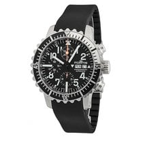 Fortis Marinemaster Steel 42mm Black Arabic numerals