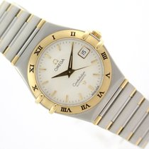 Omega Lady Constellation Automatic 18k Gold & Steel Date Vintage
