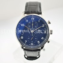IWC Portuguese Chronograph Steel 41mm Blue Arabic numerals