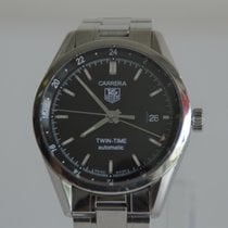 TAG Heuer Carrera Calibre 7 pre-owned 39mm Black Date Leather