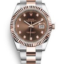 Rolex Rose gold Automatic Brown No numerals 41mm new Datejust II