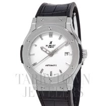 Hublot Classic Fusion 45, 42, 38, 33 mm pre-owned 45.5mm Silver Date Rubber
