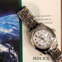 Rolex Pearlmaster Or blanc 29mm Blanc Romain