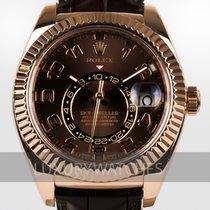 Rolex Sky-Dweller Rose gold 42mm Brown