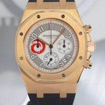 Audemars Piguet Royal Oak Chronograph Or rose 39mm Argent Arabes France, Cannes