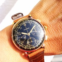 Tavannes Or rose 37,5mm Remontage manuel Vintage chronograph occasion