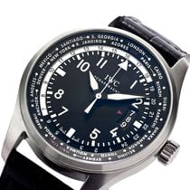 IWC Pilot Worldtimer Steel 45mm Black Arabic numerals United States of America, New York, Greenvale