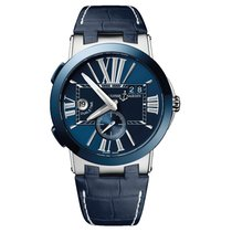 Ulysse Nardin Executive Dual Time Steel 43mm Blue