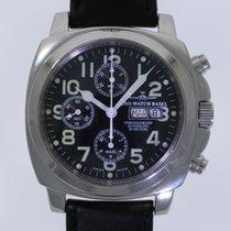 Zeno-Watch Basel Acero Automático Negro Arábigos 45mm usados