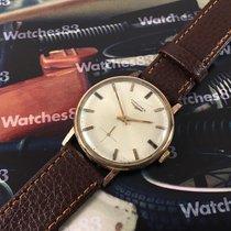 Longines Cal. 490 reloj antiguo suizo de cuerda Plaqué Or 20...