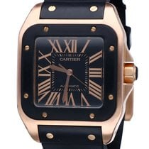 Cartier Santos 100 XL Rose Gold Roman Dial 51 x 40 mm (Ful Set...