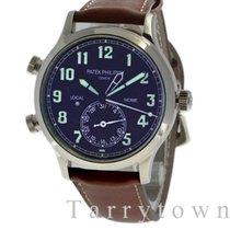 Patek Philippe Travel Time White gold 42mm Blue United States of America, New York, Hartsdale