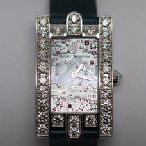 Harry Winston new Quartz Gemstone 36mm White gold Sapphire Glass
