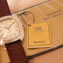IWC vintage electronic Date Stainless Steel 1975 with papers