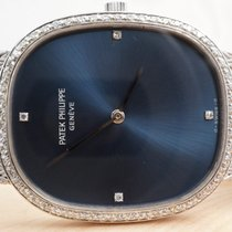 Patek Philippe White Golden Ellipse, Jumbo, Sunburst Diamonds...