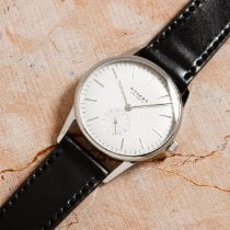 NOMOS Orion Steel 35mm White No numerals