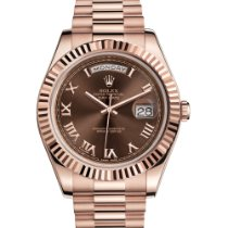 Rolex Rose gold Automatic Roman numerals 41mm pre-owned Day-Date II