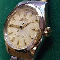 Rolex Oyster Perpetual Gold/Stahl 34mm Weiß