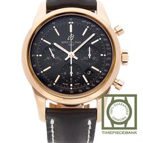 Breitling Red gold Automatic Black 43mm new Transocean Chronograph