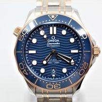 Omega Seamaster Diver 300 M nuevo Automático Reloj con estuche y documentos originales 210.20.42.20.03.002