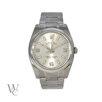 Rolex Oyster Perpetual 34 Steel 34mm Silver Arabic numerals United Kingdom, London