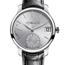 H.Moser & Cie. Endeavour Oro blanco 40.80mm Plata Sin cifras