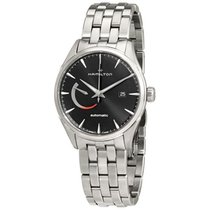 Hamilton Men's H32635131 Jazzmaster Power Reserve Black Dial...