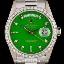 Rolex Very Rare 18k W/G Stella Dial Omani Crest Day-Date 18049