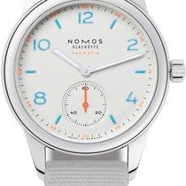 NOMOS Club Neomatik Staal 37mm Wit