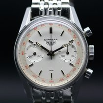 Heuer Carrera Chronograph 45. 3647 ST Creme Dial from 1966