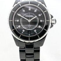 Chanel J12 black ceramic diamond
