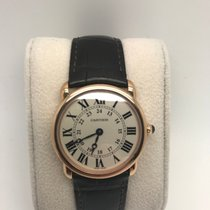Cartier Ronde Solo Louis 18k Rose Gold Watch with Black...