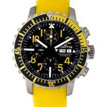 Fortis B42 Marinemaster Yellow Chronograph Men's Watch –...